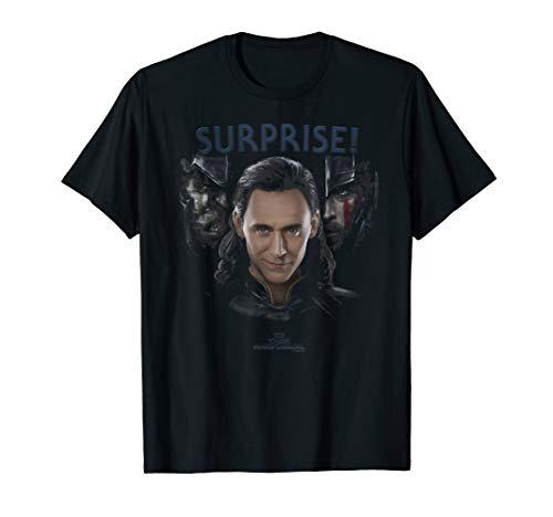 Marvel Thor: Ragnarok Loki Surprise Dark Portrait T-Shirt