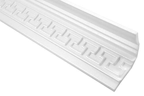 Cornisa//Moldura decorativa techo blanca NMC NOMASTYL/® ST3 75X75X2000mm Poliestireno 10 metros