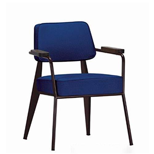 Bureaustoel, industriële stijl, bureaustoel, bureaustoel, bureaustoel, bureaustoel, linnen, blauw