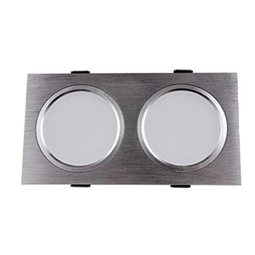 WRMOP inbouw-dubbelkop vierkant gesloten inbouwlamp LED-paneel licht woonkamer gang plafondlamp radiator grill licht R/19/12/28