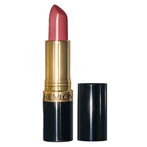 Revlon Super Lustrous Lipstick with Vitamin E and Avocado Oil, Cream Lipstick in Wine, 445 Teak Rose, 0.15 oz