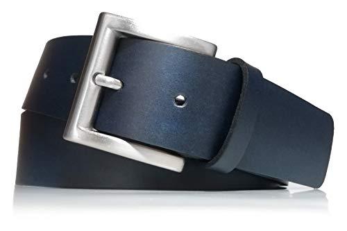 almela - Cinturón Hombre y Mujer - Piel legitima - 4 cm...