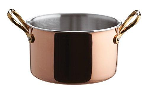 Paderno World Cuisine Mini Tri-Ply Saucepot, 6 3/8in, Copper