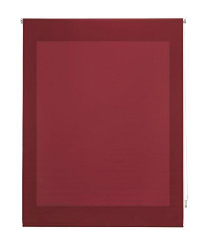 Uniestor Estor Enrollable Liso Traslúcido, Tela, Burdeos 120x250 cm