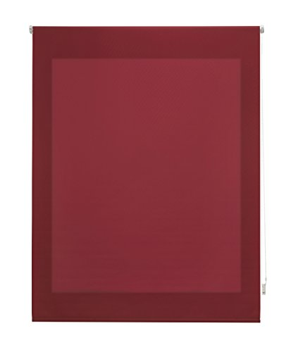 Uniestor Estor Enrollable Liso Traslúcido Tela Burdeos 100x250 cm