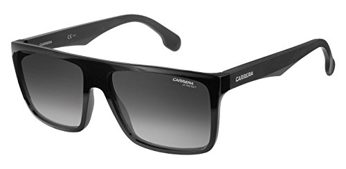 Carrera CA5039/S Rectangular Sunglasses, BLACK/DARK GRAY GRADIENT, 58 mm