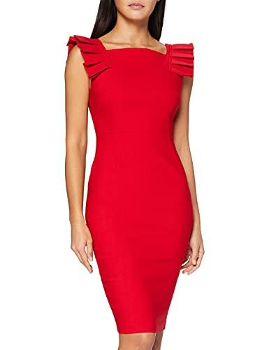 Vesper Damska sukienka imprezowa Lucinda, czerwony (Rot Ff), 34 PL