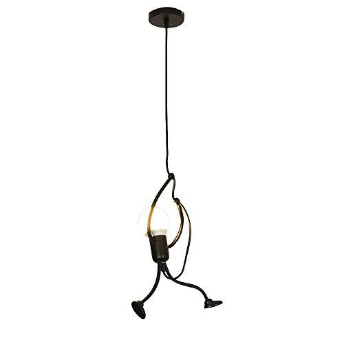 Lámpara Colgante Moderna De La Vendimia Lámpara De Techo Metal 230V Candelabro E27 Enchufe Para La Decoración Del Hogar Habitación De Los Niños Cafe Bar Dormitorio Corredor Lámparas de araña (A)