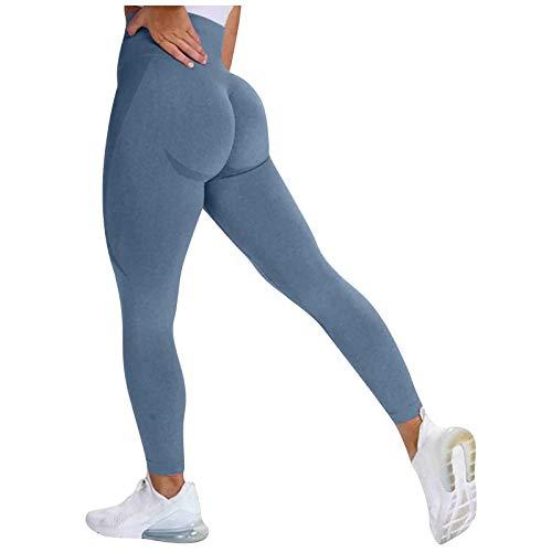 Pistazie - Leggings de deporte para mujer, ajustados de cintura alta, con control abdominal, elásticos, pantalones de yoga opacos, fitness, running, compresión, ciclismo, con perfume