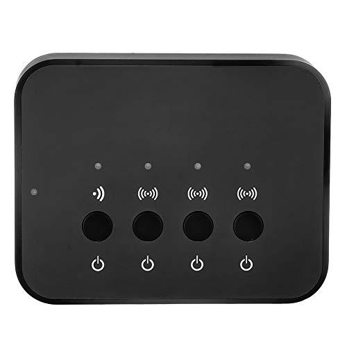 Adaptador Bluetooth de música estéreo inalámbrico con cable de 3,5 mm, dispositivo para compartir estéreo Bluetooth, dispositivo para compartir música con 1 entrada y 3 salidas, para ver películas, re
