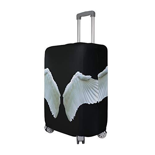FANTAZIO - Funda Protectora para Maleta con alas de ángel, Color Blanco