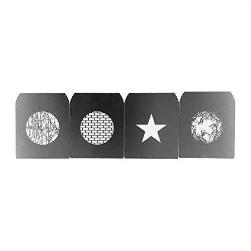 Gobo Set G Für PIXAPRO Ef / Halterung Optisch Spotvorsatz Punkt Projektor Laserschnitt Edelstahl Konstruktion Fotografie F-Mount Zubehör Modifizierer Leicht Tragbar Muster