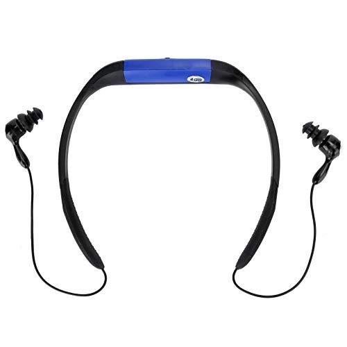 ASHATA Drahtloser Bluetooth-Kopfhörer, IPX8 Wasserdichter Schwimmkopfhörer MP3-Musik-Player FM-Radio-Musik-Player zum Schwimmen, Laufen, Fitness