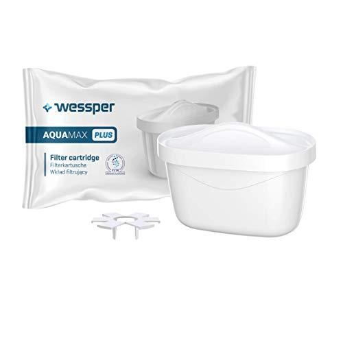 Wessper Wasserfilter Kartuschen 6er kompatibel mit Brita Filterkartuschen Maxtra, Maxtra+