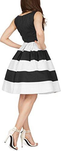 BlackButterfly 'Lilly' Vintage Gestreift Kleid im 50er-Jahre-Stil - 3