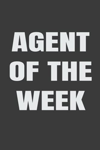 Real Estate Investing Books! - Agent Of The Week: Real Estate Blank Lined Journal to Show Off With Pride Realtor Goals Accomplished
