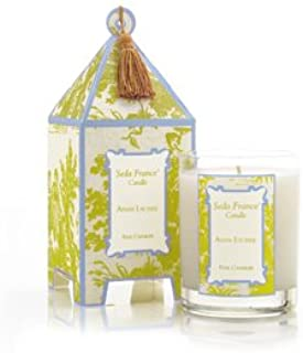 Asian Lychee, Seda France Classic Toile Pagoda Candle, 60+ Hour Burn Time ~ 24 scents available