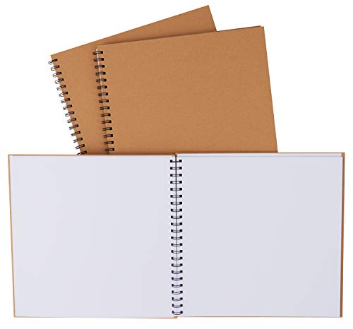 VBS 3er-Pack Pappmaché Ringbuch-Album Blanko Notizbuch Buch Uni-Buch Fotobuch 30,5cm Scrapbook