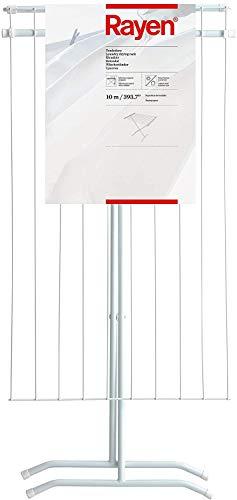 Rayen | Tendedero de acero | Superficie de tendido de 10 m | Tendedero plegable | Para interior y exterior | 90 x 53,5 x 82 cm