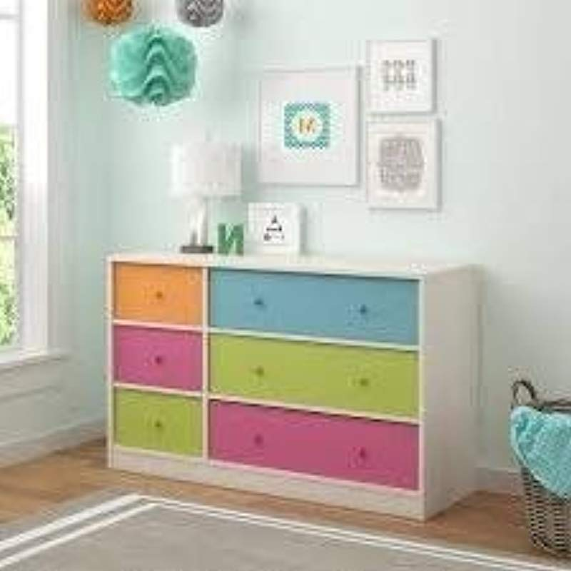 Dressers For Bedroom Kids Multicolored MDF Wood Six Drawers Storage Solution For Your Little Ones