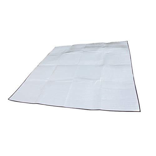 BFQY FH Tapis D'extérieur, Double Tapis De Tente en Aluminium 200 × 200cm Grand Tapis De Pique-Nique Portable Imperméable Et Résistant À L'humidité