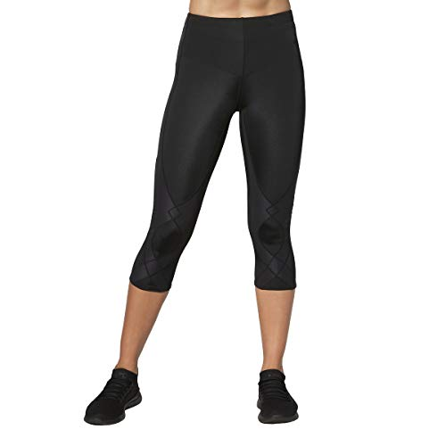 CW-X Women's Stabilyx Joint Support 3/4 Capri Compression Tight, Black, X-Large