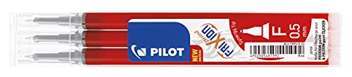 Pilot FriXion Point - Recambio para bolígrafos y plumas (Paquete de 3), rojo