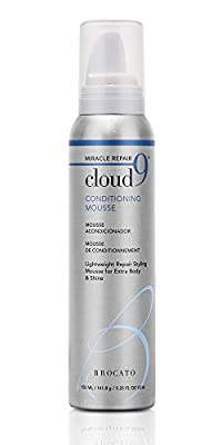 Brocato Cloud 9 Conditioning Hair Mousse: Curl Styling Products for Enhancing & Repairing Curly or Wavy Hair for Extra Body & Shine - Anti Frizz Curl Defining Mousse for Men or Women - 5 Oz