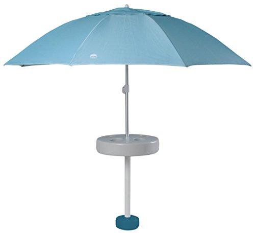 Shade Science PB-16011-HAR Pool Buoy Plus Floating Umbrella, Harbor Blue