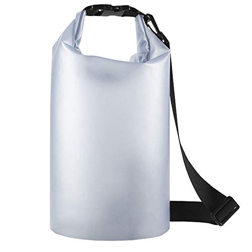 Bolsa Impermeable, Mochila Dry Bag, Bolsa de Cubo Impermeable, Bolsa Impermeable Transparente, con Correa de Hombro Ajustable para Natación, Rafting, Playa, Surf, Kayak