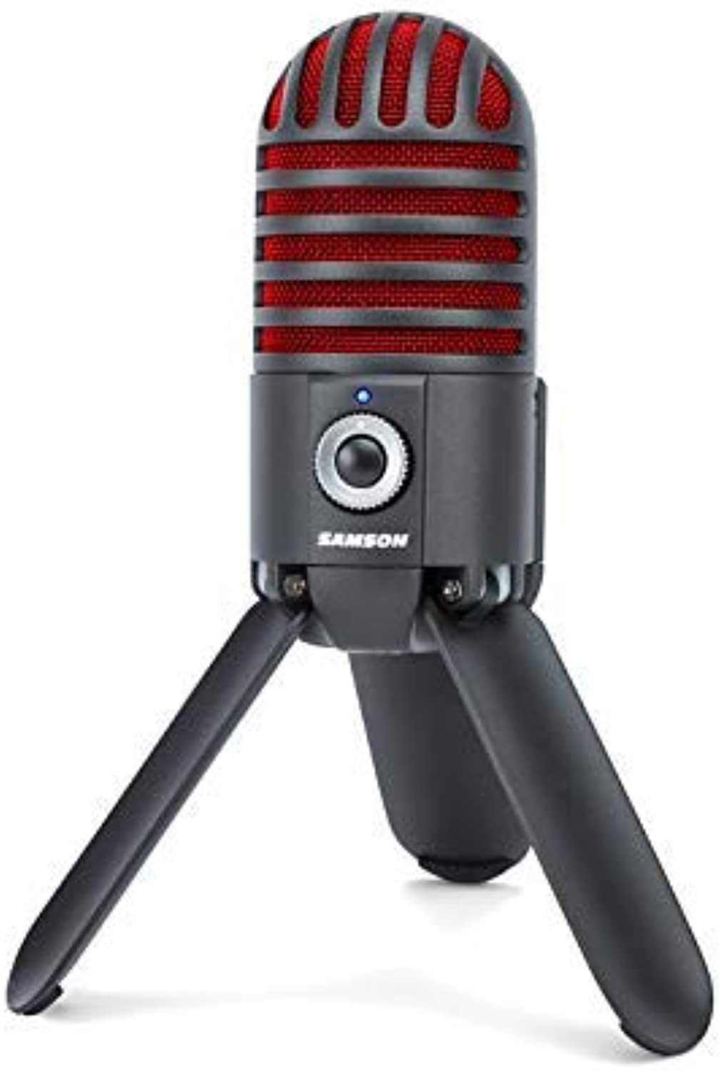 Samson Meteor Mic USB Studio Microphone, Titanium Black Red  Limited Edition