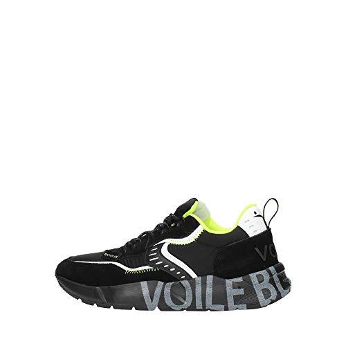 VOILE BLANCHE CLUB01-Sneaker in Suede e Tessuto Tecnico Nero 44