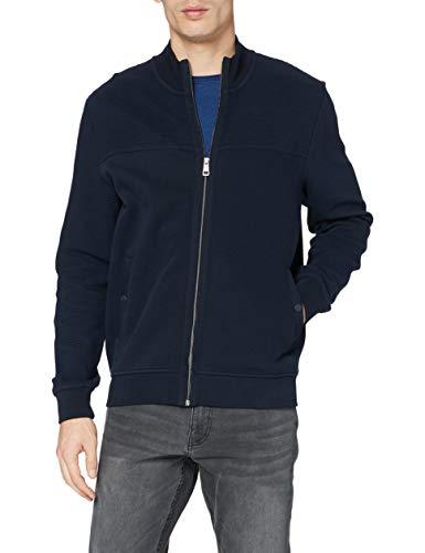 BUGATTI Hybrid Jacke Maglione Cardigan, Blu Marino, XXXXL Uomo