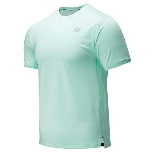 New Balance MT01234 Camiseta, Verde, L Hombre