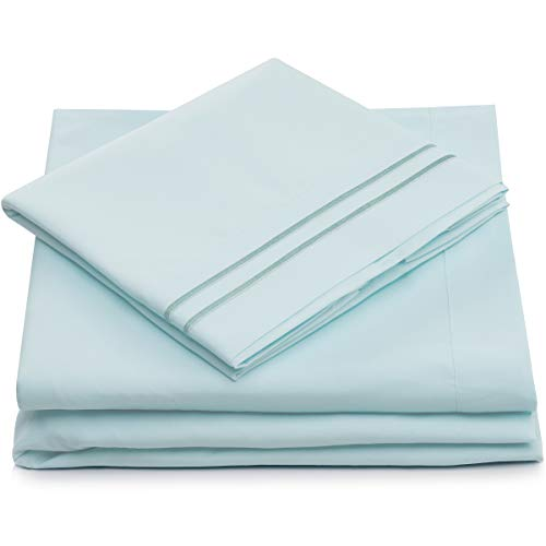 Cosy House Collection King Size Bed Sheets - White Luxury Sheet Set -...