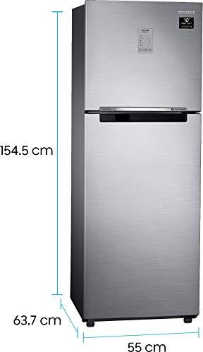 Samsung 253L 3 Star Inverter Frost Free Double Door Refrigerator (RT28T3743S8/HL, Elegant Inox, Convertible) 3