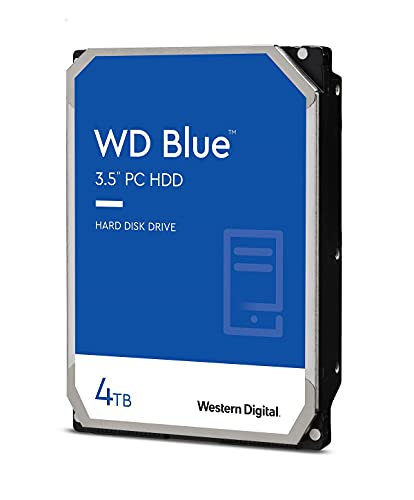 "Western Digital 4TB WD Blue PC Hard Drive HDD - 5400 RPM, SATA 6 Gb/s, 64 MB Cache, 3.5"" - WD40EZRZ"