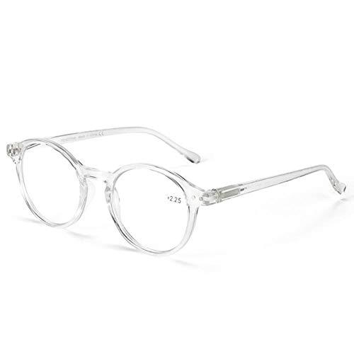 Leesbril voor mannen met ronde glazen, heldere lens, bril, verziendheid, anti-blauw licht, leesbril, bril # 11, 225, crycle