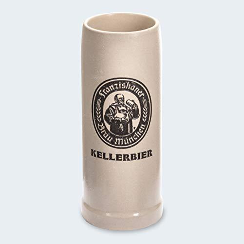 Zum Franziskaner Original Tonkrug | Kellerbier | Höchster Biergenuss (0,5 L, 1 STÜCK)