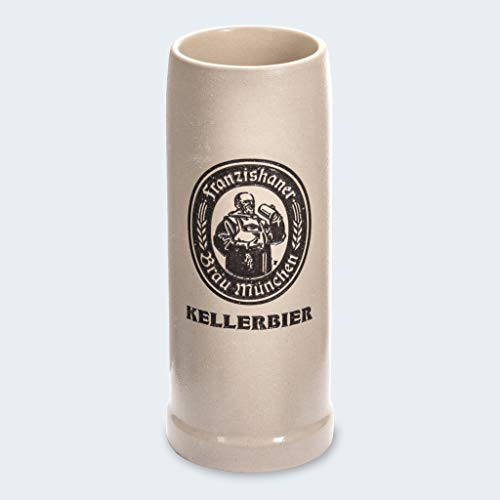 Zum Franziskaner Original Tonkrug | 0,5L | Kellerbier | Höchster Biergenuss