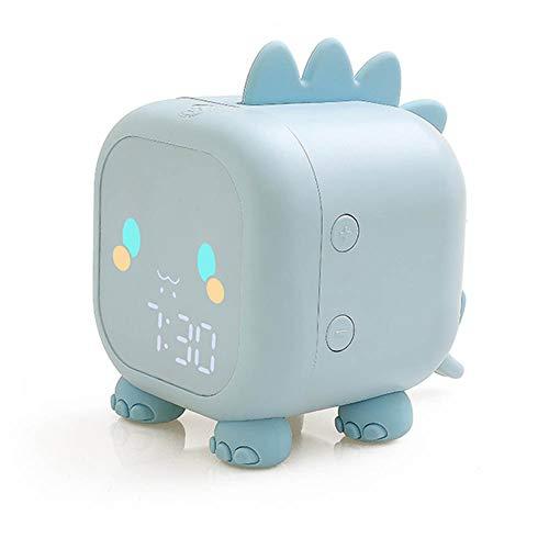 Despertador Digital, Reloj Despertador Digital para niños,Lindo Reloj Despertador de Cabecera de Dragón Wake up Light, 2 Alarmas, Función Snooze,Despertador Infantil con Luz de Noche para Dormitorios