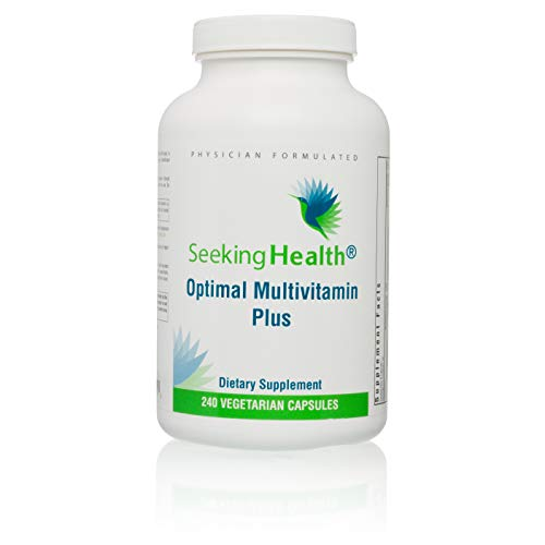 Optimal Multivitamin Plus | Daily Mineral Supplement with Active B Vitamins and L-5-MTHF| Includes Riboflavin, B6, B12, Folate, CoQ10 | Mineral Blend Without Iron | 30 Servings | Vegetarian Capsules