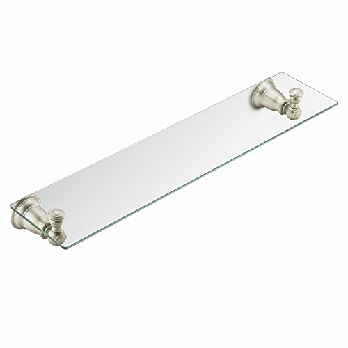 glass shelves in brushed nickel - 3