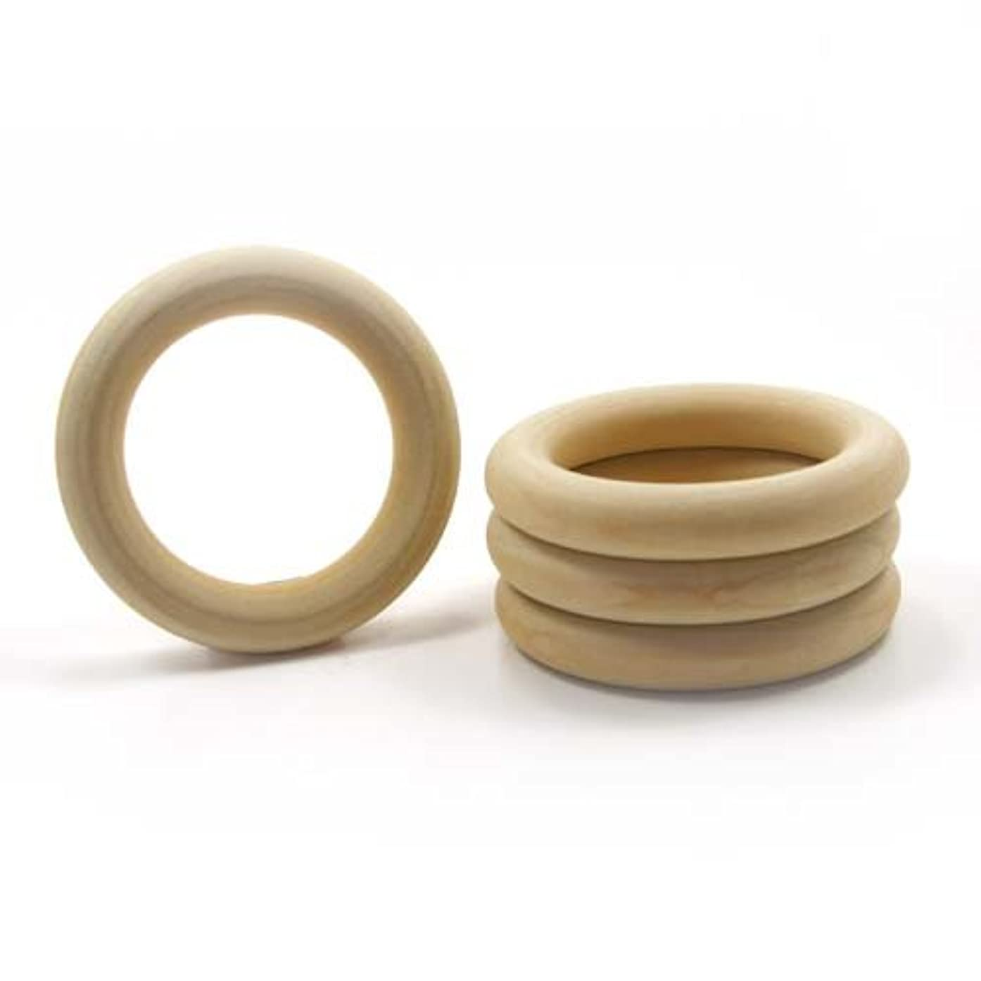 Mylittlewoodshop Pkg of 25 - Ring - 1-1/2 inch outside diameter with 3/4 inches inside diameter and 3/8 inches thick unfinished wood (WW-TR0400-26)