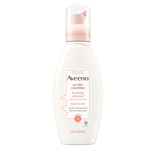 Aveeno Ultra-Calming Foaming Cleanser and Makeup Remover for Dry, Sensitive Skin, 6 fl. oz