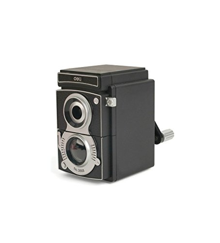 Kikkerland Camera Pencil Sharpener, Black (SC12)