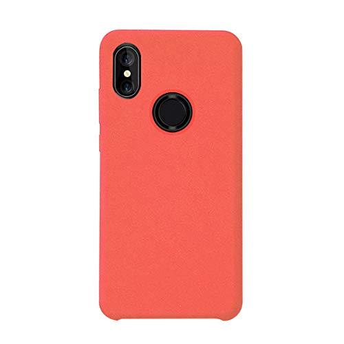 Croachi Compatible con Funda XiaoMi Mi A2 Lite/Redmi 6 Pro, Xiaomi Mi 6X Case Carcasa Silicona TPU Transparente Cover Antigolpes Protector Ultra-Fina-Slim 360 (Rojo 2, Mi A2/ Mi 6X)