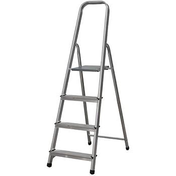 Escalera Tijera Plegable 4 Peldaños de Aluminio. Escadote 4 degraus de Alumínio EN 131 Capacidad Máx. 150 kg. Hecho en Europa. BTF-TJL104: Amazon.es: Bricolaje y herramientas