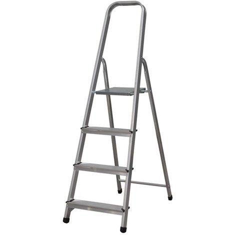 Escalera Tijera Plegable 4 Peldaños de Aluminio. Escadote 4 degraus de Alumínio...