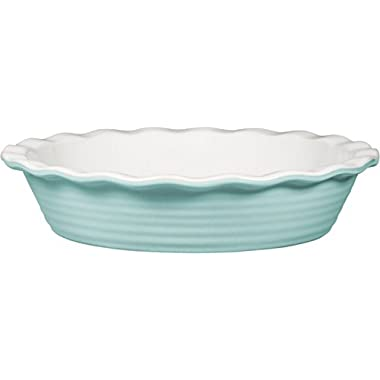 Palais Dinnerware 'Tarte' Collection, Ceramic Pie Dish - 10  Diameter (Light Blue)